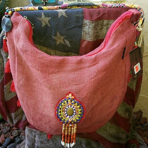 CATORI - SUN 'N' SAND STUDIO Handbags - NWT CATORI SUN 'N' SAND BOHO HOBO HAND MADE (USA)